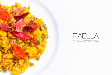 Obraz na Szkle Do baru Paella. Typical Spanish Food
