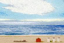 Beach At Sunrise, Impressionist Style