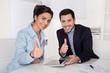 canvas print picture Erfolgreiches Business Team - Manager und Geschäftsfrau