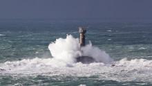 Storm At Lands End Cornwall En...