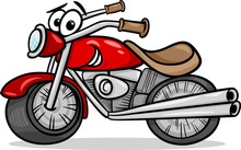 Bike Or Chopper Cartoon Illust...