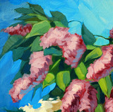 blossoming lilac, illustration, painting