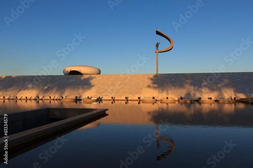 Memorial JK - Futuristic Brazilian President Memorial Statue in