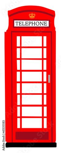 Obraz na plátně British phonebooth