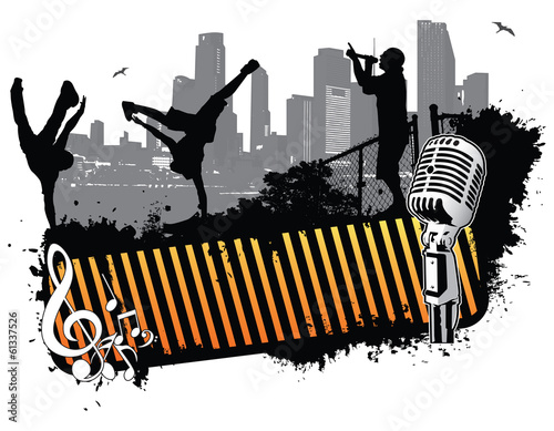 Fotografie, Obraz  Break dance banner