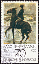 """""""Horseman On The Shore"""" By Max Liebermann (Germany 1978)"""