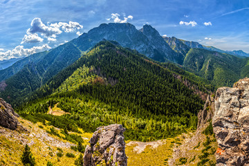 FototapetaTatra Mountains with famous Mt Giewont in Poland