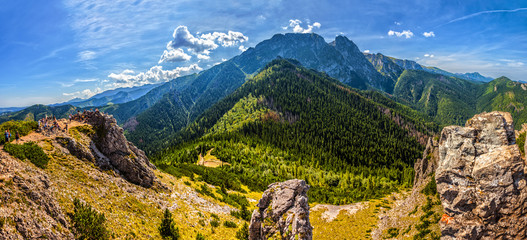 Tatra Mountains with famous Mt Giewont in Poland