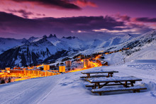 Famous Ski Resort In The Alps,...