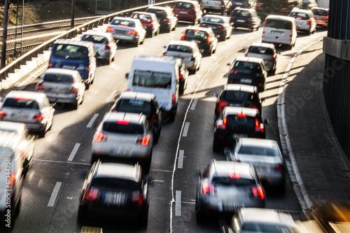 Fotografía autos auf der autobahn