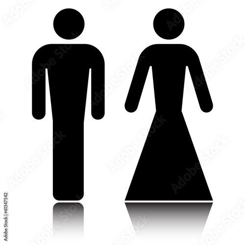 Elegant But Simple Restroom Sign On White Vector Buy This Stock Simple Bathroom Sign Vector Design