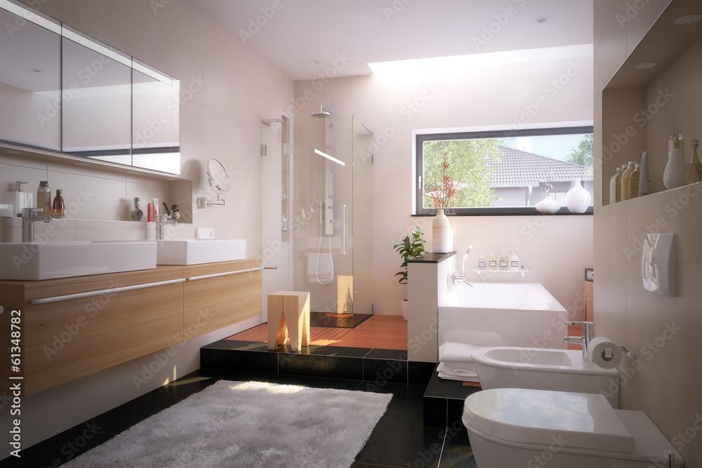 Photo U0026 Art Print Luxus Badezimmer In Einfamilienhaus   Luxury Bathroom |  EuroPosters