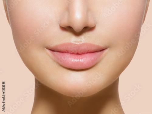 Poster - Beautiful Perfect Lips. Sexy Mouth Closeup
