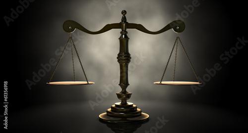 Fotografie, Obraz Scales Of Justice