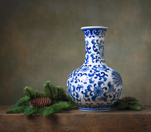 Still Life With Chinese Vase A...