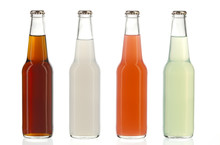 Four Assorted Soda Bottles, Alcoholic Drinks