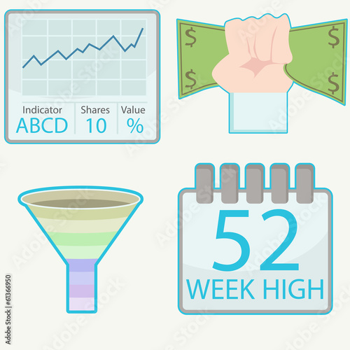 Poster  Stock Trading Icons