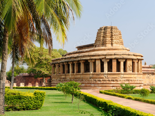 Plakat Indyjski starożytny architeckture w Aihole