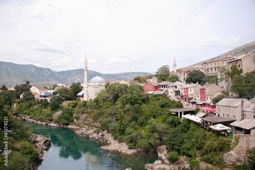 Printed kitchen splashbacks Turkey Mostar Stock Photo