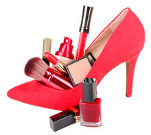 Beautiful Red Female Shoe With...