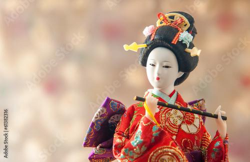 Obraz na płótnie Still life Cute japanese geisha doll