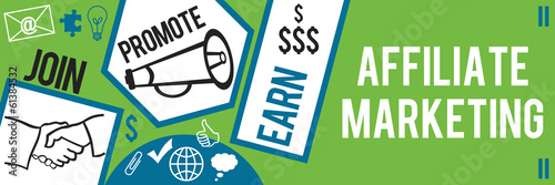 Photo Affiliate Marketing Green Blue Banner