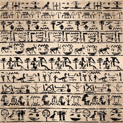 grunge-tla-z-egipskich-hieroglifow