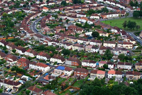 Fototapeta Aerial views of houses obraz na płótnie