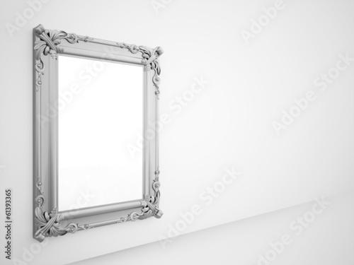 Fotografía  Mirror with vintage silver frame