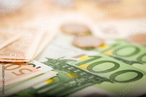 Fotografía Los billetes en euros
