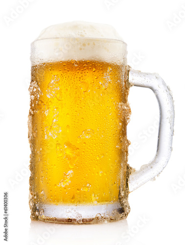 Frosty mug of beer