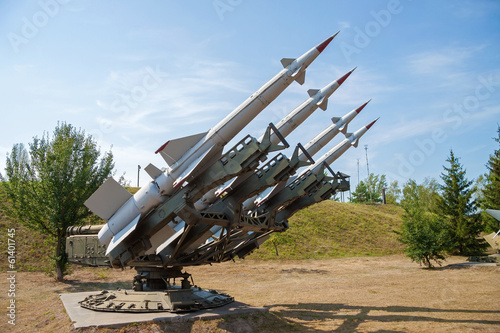 Photo  Air defense missiles