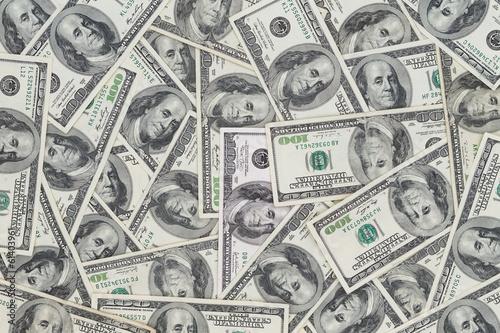 Fotografía  Hundreds of new Benjamin Franklin 100 dollar bills