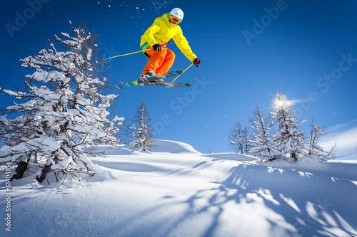 Fotobehang Wintersporten ski paradise
