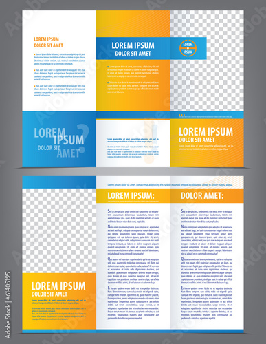 Fototapety, obrazy: Vector empty trifold brochure template design