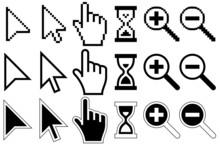Pixel Cursors Icons, Mouse, Ha...