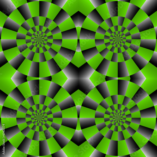 Fotografie, Obraz  Optical Illusion Spin Cycle, Vector Pattern Abstract Background.