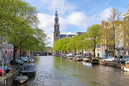 Photo  View of the Western church in Amsterdam
