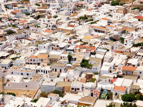 Greek urban development seen from a bird's eye - 61409309