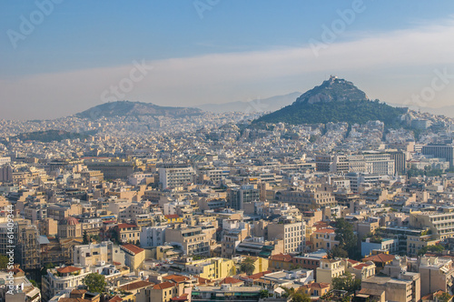 Fotobehang Athene Panoramic view of Athens, Greece
