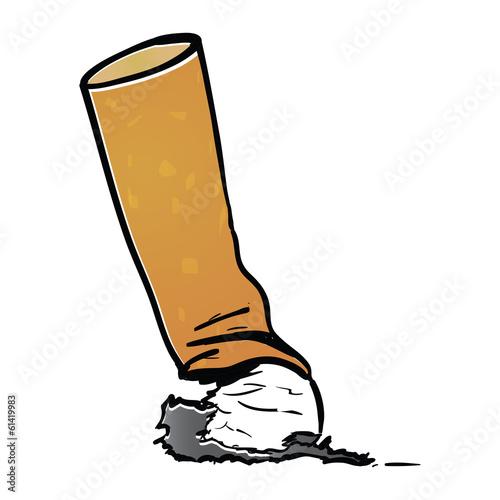Fototapeta Arrêter de fumer, écraser, cancer, cigarette, mégot