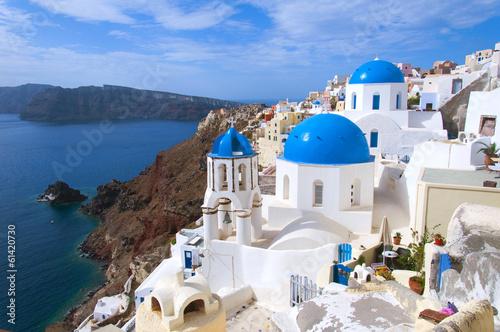 Fotografie, Obraz  The church on Santorini