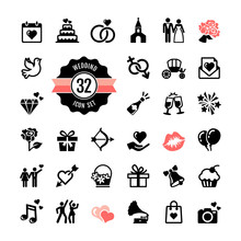 Web Icon Set - Wedding, Marria...