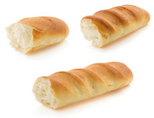 French Bread On White