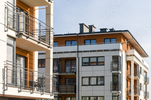 Obraz New modern houses - fototapety do salonu