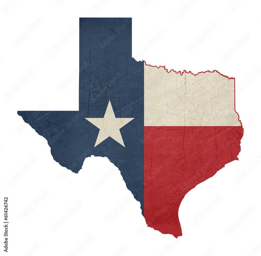Fototapety, obrazy: Grunge state of Texas flag map
