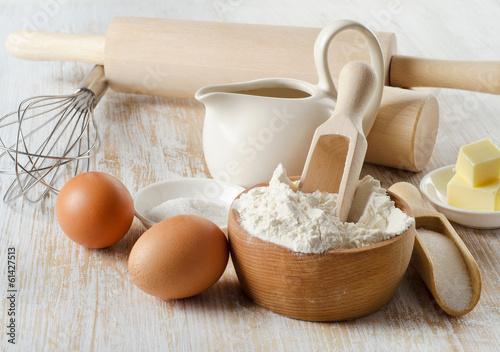 Fotografie, Obraz  baking ingredients