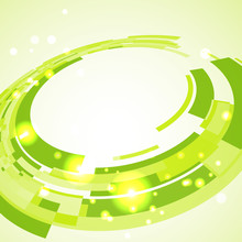 Virtual Technological Green Disk With Space For Your Business Me
