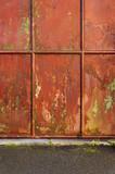 Hintergrund Eisentor mit Lackschäden