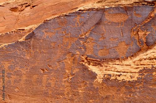 Fotografie, Obraz  pétroglyphes, US 279, Colorado, Arizona